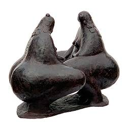 Small talk | model sculpture in bronze by Evert van Hemert now for sale online! ✓Highest quality & service ✓Safe payment ✓Free shipping