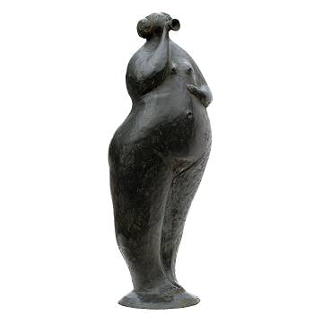 Marjolein fontein | bronzen model beeld van Evert van Hemert | Exclusieve kunst online te koop in de webshop van Galerie Wildevuur