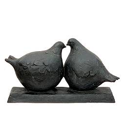 Love birds | animal sculpture in bronze by Evert van Hemert now for sale online! ✓Highest quality & service ✓Safe payment ✓Free shipping