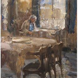 Middaglicht I | model schilderij in olieverf van Flip Gaasendam koopt u nu online! & service ✓Veilig betalen ✓Gratis verzending
