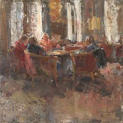 Middaglicht II | model schilderij in olieverf van Flip Gaasendam koopt u nu online! & service ✓Veilig betalen ✓Gratis verzending