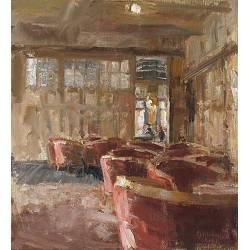 Lounge | interieur schilderij in olieverf van Flip Gaasendam koopt u nu online!Hoogste kwaliteit & serviceVeilig betalenGratis verzending
