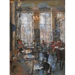 Grand Cafe The Three Sisters | painting of a interior in oil by Flip Gaasendam | Exclusive Dutch Master Art | View and buy the best artworks online now