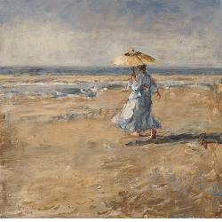 On the mudflat V | painting of a model-people in oil by Flip Gaasendam | Exclusive Dutch Master Art | View and buy the best artworks online now