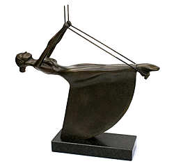 Swing | model sculpture in bronze by Frans van Straaten now for sale online! ✓Highest quality & service ✓Safe payment ✓Free shipping
