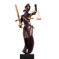 Justitia | model sculpture in bronze by Frans van Straaten now for sale online! ✓Highest quality & service ✓Safe payment ✓Free shipping