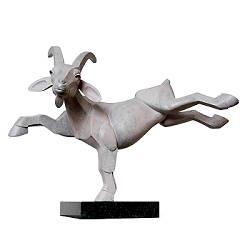 Goat | animal sculpture in bronze by Frans van Straaten now for sale online! ?Highest quality & service ?Safe payment ?Free shipping