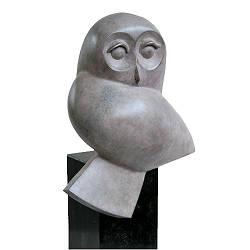 Bosuil | bronzen dierenbeeld van Frans van Straaten | Exclusieve kunst online te koop in de webshop van Galerie Wildevuur
