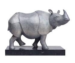 Rhino II | bronzen beeld van een neushoorn van Frans van Straaten koopt u nu online! ✓Hoogste kwaliteit ✓Veilig betalen ✓Gratis verzending