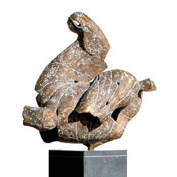 Steigerend paard | bronzen beeld van een paard van Gerard Engels | Exclusieve kunst online te koop in de webshop van Galerie Wildevuur