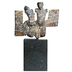 Pair | model sculpture in bronze by Gerard Engels now for sale online! ✓Highest quality & service ✓Safe payment ✓Free shipping