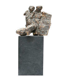 Couple | model sculpture in bronze by Gerard Engels | Exclusive Dutch Master Art | View and buy the best artworks online now