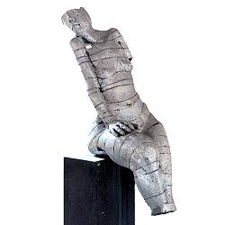 Torse sitting | model sculpture in aluminium by Gerard Engels now for sale online! ?Highest quality & service ?Safe payment ?Free shipping