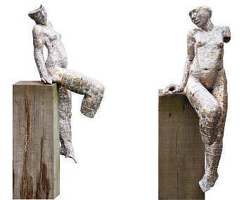 Koppel | bronzen beeld van een man en vrouw samen van Gerard Engels | Exclusieve kunst online te koop in de webshop van Galerie Wildevuur