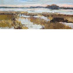 Winter in the stream valley | landscape painting in oil by Gerard van de Weerd now for sale online! ?Highest quality ?Safe payment ?Free shipping