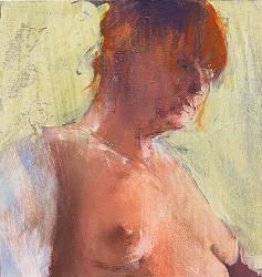 Model | model schilderij in olieverf van Gerard van de Weerd | Exclusieve kunst online te koop in de webshop van Galerie Wildevuur