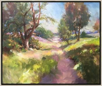 Sentiment d'été | landschap schilderij in olieverf van Hans Musters koopt u nu online! ✓Hoogste kwaliteit & service ✓Veilig betalen ✓Gratis verzending