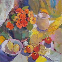 Overpeinzing   schilderij van een model-mensen in olieverf van Hans Musters   Exclusieve kunst online te koop in de webshop van Galerie Wildevuur