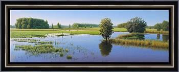 Plas dras   landschap schilderij in olieverf van Hans Parlevliet   Exclusieve kunst online te koop in de webshop van Galerie Wildevuur