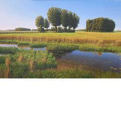 Puddle dras | landscape painting in oil by Hans Parlevliet | Exclusive Dutch Master Art | View and buy the best artworks online now