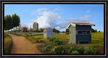 Das Außenbereich | Landschaft Gemälde in Ölfarbe von Hans Parlevliet kaufen Sie jetzt online! ✓Sichere Zahlung ✓Kostenloser Versand