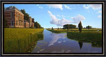 Ruimte voor de rivier | landschap schilderij in olieverf van Hans Parlevliet | Exclusieve kunst online te koop in de webshop van Galerie Wildevuur