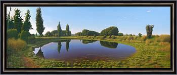 Der Pfuhl | Landschaft Gemälde in Ölfarbe von Hans Parlevliet kaufen Sie jetzt online! ✓Höchste Qualität ✓Sichere Zahlung ✓Kostenloser Versand