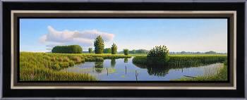 Doodlopend | landschap schilderij in olieverf van Hans Parlevliet | Exclusieve kunst online te koop in de webshop van Galerie Wildevuur