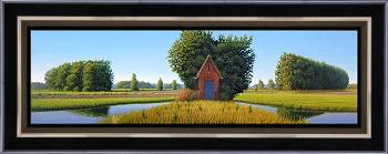 Symmetrie | landschap schilderij in olieverf van Hans Parlevliet | Exclusieve kunst online te koop in de webshop van Galerie Wildevuur