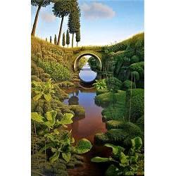 De doorkijk | landschap schilderij in olieverf van Hans Parlevliet | Exclusieve kunst online te koop in de webshop van Galerie Wildevuur