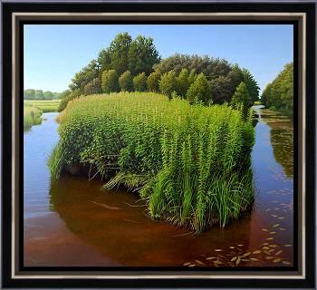 Bijkans onbegaanbaar | landschap schilderij in olieverf van Hans Parlevliet | Exclusieve kunst online te koop in de webshop van Galerie Wildevuur