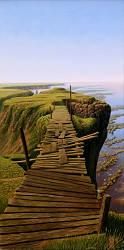 De uitdaging | landschap schilderij in olieverf van Hans Parlevliet | Exclusieve kunst online te koop in de webshop van Galerie Wildevuur