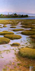 Blubber | landschap schilderij in olieverf van Hans Parlevliet | Exclusieve kunst online te koop in de webshop van Galerie Wildevuur