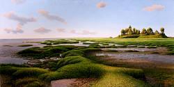 Nog eb | landschap schilderij in olieverf van Hans Parlevliet | Exclusieve kunst online te koop in de webshop van Galerie Wildevuur