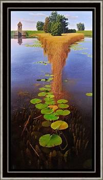 De landtong | landschap schilderij in olieverf van Hans Parlevliet | Exclusieve kunst online te koop in de webshop van Galerie Wildevuur