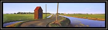 Bweg | landschap schilderij in olieverf van Hans Parlevliet | Exclusieve kunst online te koop in de webshop van Galerie Wildevuur