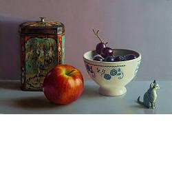 Cilento limone| stilleven schilderij in olieverf van Herman Tulp | Exclusieve kunst online te koop in de webshop van Galerie Wildevuur