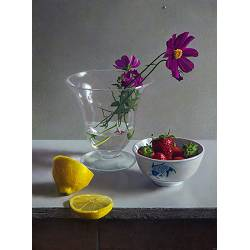 Rose in ginger jar | still-life painting in oil by Herman Tulp now for sale online! ✓Highest quality & service ✓Safe payment ✓Free shipping