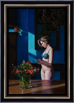 Begin van de dag | model schilderij in olieverf van Herman Tulp | Exclusieve kunst online te koop in de webshop van Galerie Wildevuur