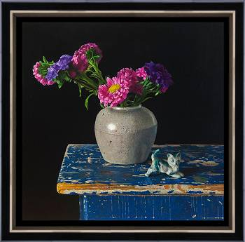 The walk of life II | stilleven schilderij in olieverf van Herman Tulp | Exclusieve kunst online te koop in de webshop van Galerie Wildevuur