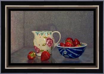 Lente ontbijt   schilderij van een stilleven in olieverf van Herman Tulp koopt u nu online! ✓Hoogste kwaliteit ✓Veilig betalen ✓Gratis verzending