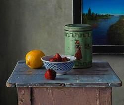 Zomer | stilleven schilderij in olieverf van Herman Tulp | Exclusieve kunst online te koop in de webshop van Galerie Wildevuur