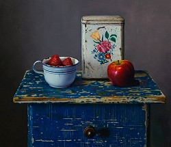 Aan tafel! | stilleven schilderij in olieverf van Herman Tulp | Exclusieve kunst online te koop in de webshop van Galerie Wildevuur