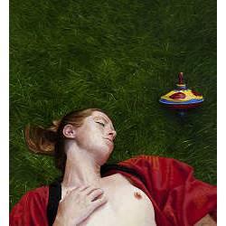 Sluimeren | schilderij van een vrouw in olieverf van Herman Tulp koopt u nu online! ✓Hoogste kwaliteit ✓Veilig betalen ✓Gratis verzending