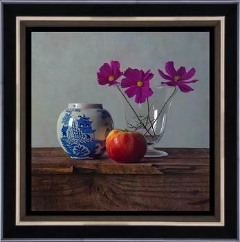 Middaglicht | stilleven schilderij in olieverf van Herman Tulp | Exclusieve kunst online te koop in de webshop van Galerie Wildevuur