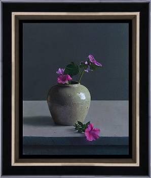 Kleuraccent | stilleven schilderij in olieverf van Herman Tulp | Exclusieve kunst online te koop in de webshop van Galerie Wildevuur