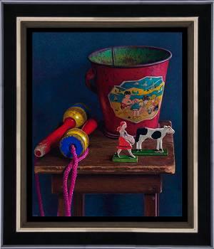 Middaglicht II | stilleven schilderij in olieverf van Herman Tulp | Exclusieve kunst online te koop in de webshop van Galerie Wildevuur