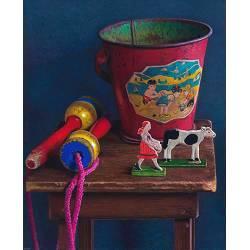 Vroeger | stilleven schilderij in olieverf van Herman Tulp | Exclusieve kunst online te koop in de webshop van Galerie Wildevuur