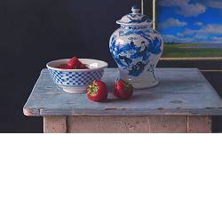 Blue room | still-life painting in oil by Herman Tulp | Exclusive Dutch Master Art | View and buy the best artworks online now