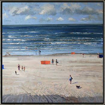 Winterochtend | zeegezicht schilderij in olieverf van Herman van Hoogdalem | Exclusieve kunst online te koop in de webshop van Galerie Wildevuur